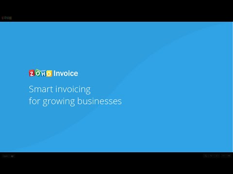 Zoho Invoice Webinar (Basic)