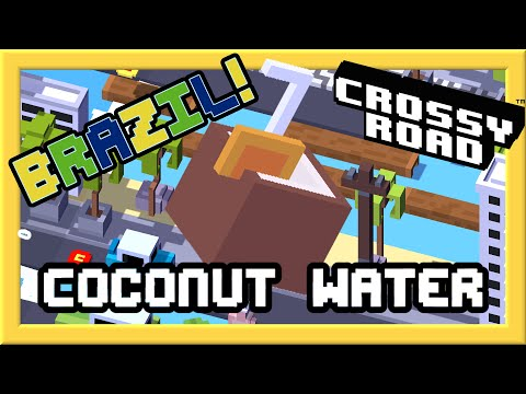 CROSSY ROAD COCONUT WATER Unlock! | NEW Secret Characters of Brazil Update 2016 | iOS Gameplay