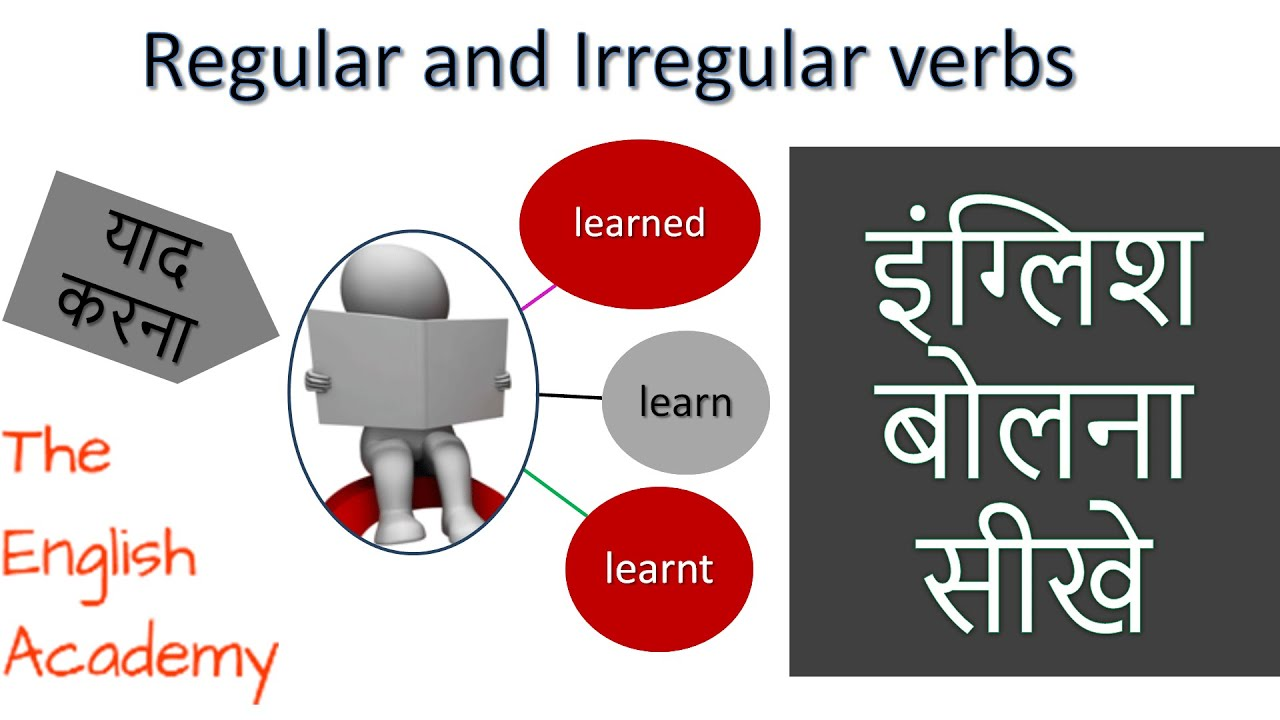 Regular and Irregular verbs Examples in Hindi | Learn English Speaking ...