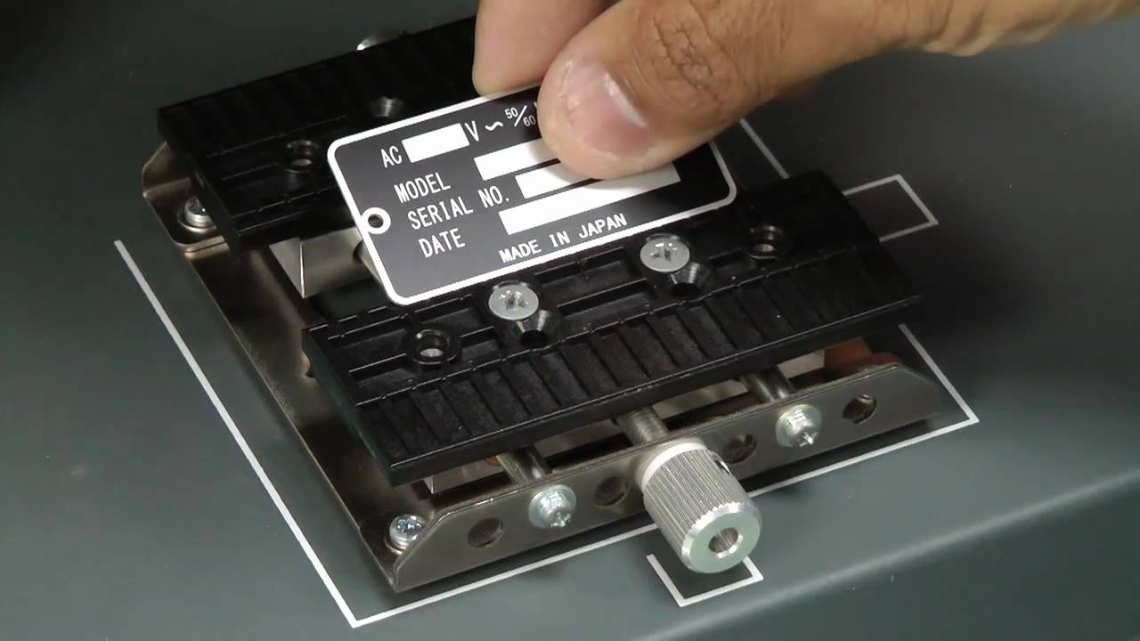 Producing Serial Number Id Plates With The Mpx 90 Impact