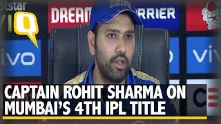 Rohit Sharma Speaks After Mumbai Indians Win IPL 2019 | The Quint