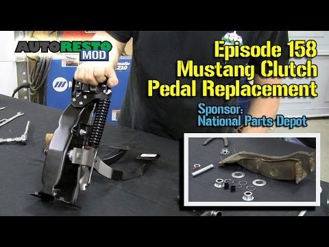 hqdefault mustang classic car clutch pedal support replacement episode 158 Mustang Foot Pedals at bayanpartner.co
