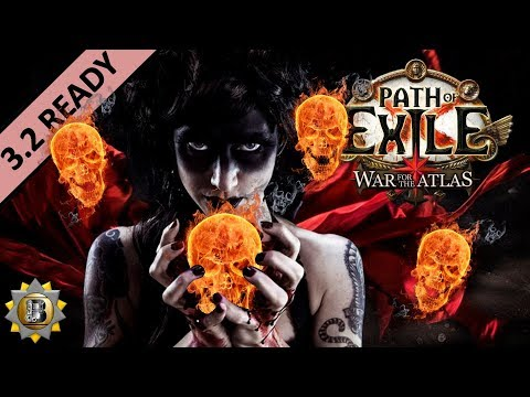 [3.2] Summon Raging Spirit - Necromancer Witch - Path of Exile War For The Atlas - Bestiary
