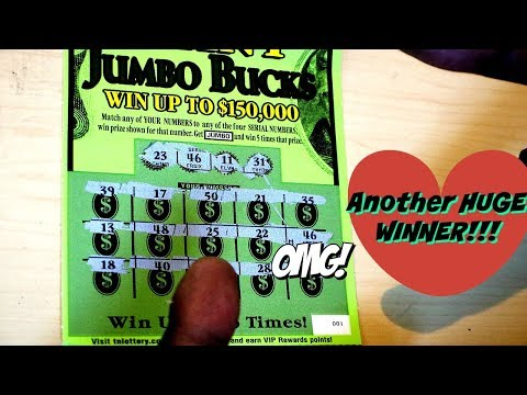 Another Huge Win!!!! Giant Jumbo Bucks Tennessee Lottery Scratch Off