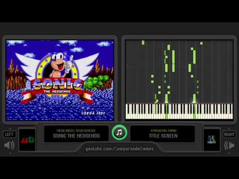 Synthesia [05] Sonic The Hedghog [Piano Tutorial] Green Hill Zone