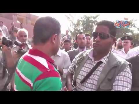 الامن ينقذ محافظ القاهرة من غضب أهالى المطرية