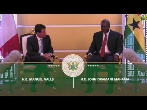 French Prime Minister Manuel Valls visits Ghana