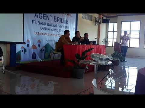 sambutan Bapak Pinca Anton acara gathering agen BRILink bri kanca wonosobo