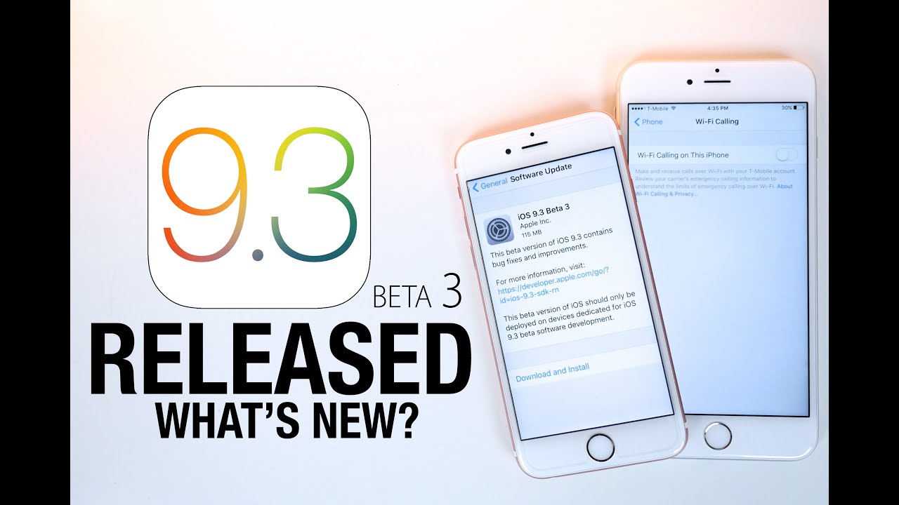 iOS 9.3 Beta 3 Released! New Features Review