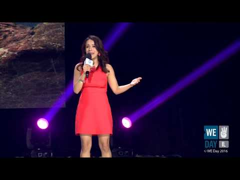 Daniela Fernandez at WE DAY IL - YouTube