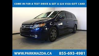 BLUE 2014 Honda Odyssey  Review Sherwood Park Alberta - Park Mazda