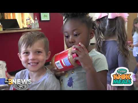 Puritan Cleaners 100K Meals 2019 visits Open Arms Christian Child Development Center