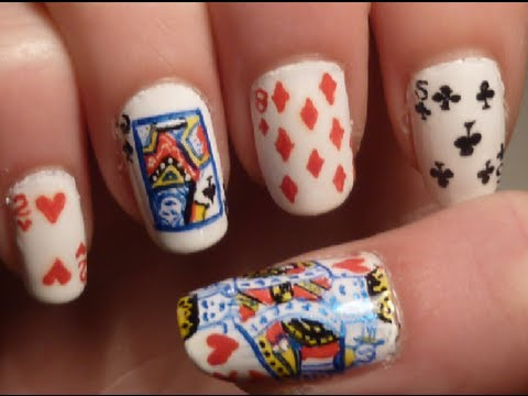King Of Hearts Nail Art Tutorial