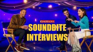 Will Smith Hilarious Interview With Aladdin Cast: Naomi Scott, Massoud