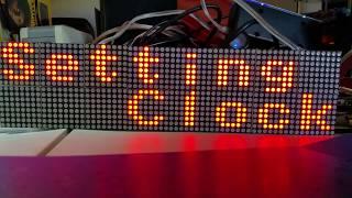LED Matrix NTP Set Clock 2 Displays for Arduino Mega ESP8266 WeMos
