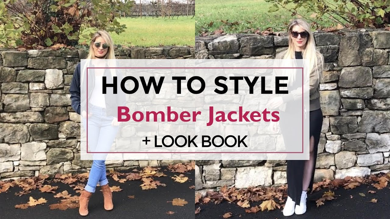 How to style Bomber Jackets: + Lookbook fashion tutorial