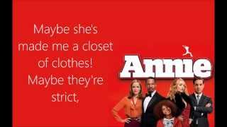 Maybe Lyrics (Annie 2014)