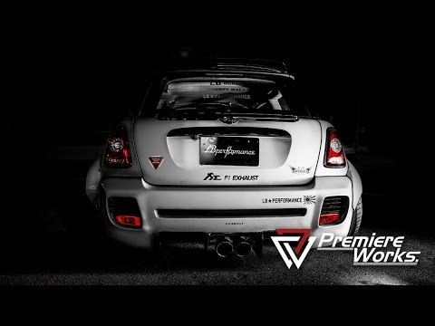 Premiere Works Screaming Zero Fighter Liberty Walk MINI Cooper Equipped With FI Exhaust Japan