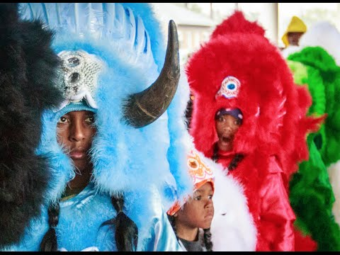 Mardi Gras Indians - The Red Flame Hunters
