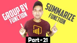Power BI Group By vs Summarize Function | Power BI Group By Function | Power BI Summarize Function