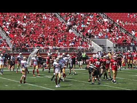 San Francisco 49ers Open Practice 8-5-2017 Levi's Stadium Matt Breida