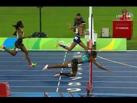 (Pics) Shaunae Miller defeats Allyson Felix by diving over ...