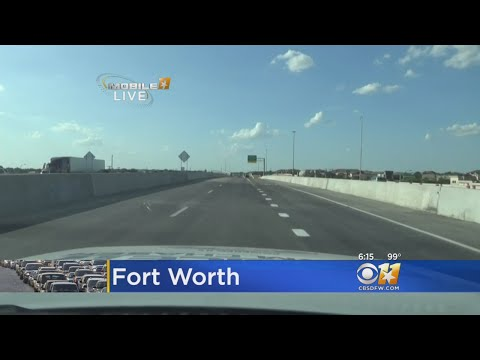 New Lanes Open On I-35W In North Fort Worth