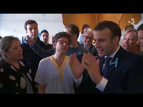 Echange musclé entre Emmanuel Macron et une salariée du CHU de Rouen