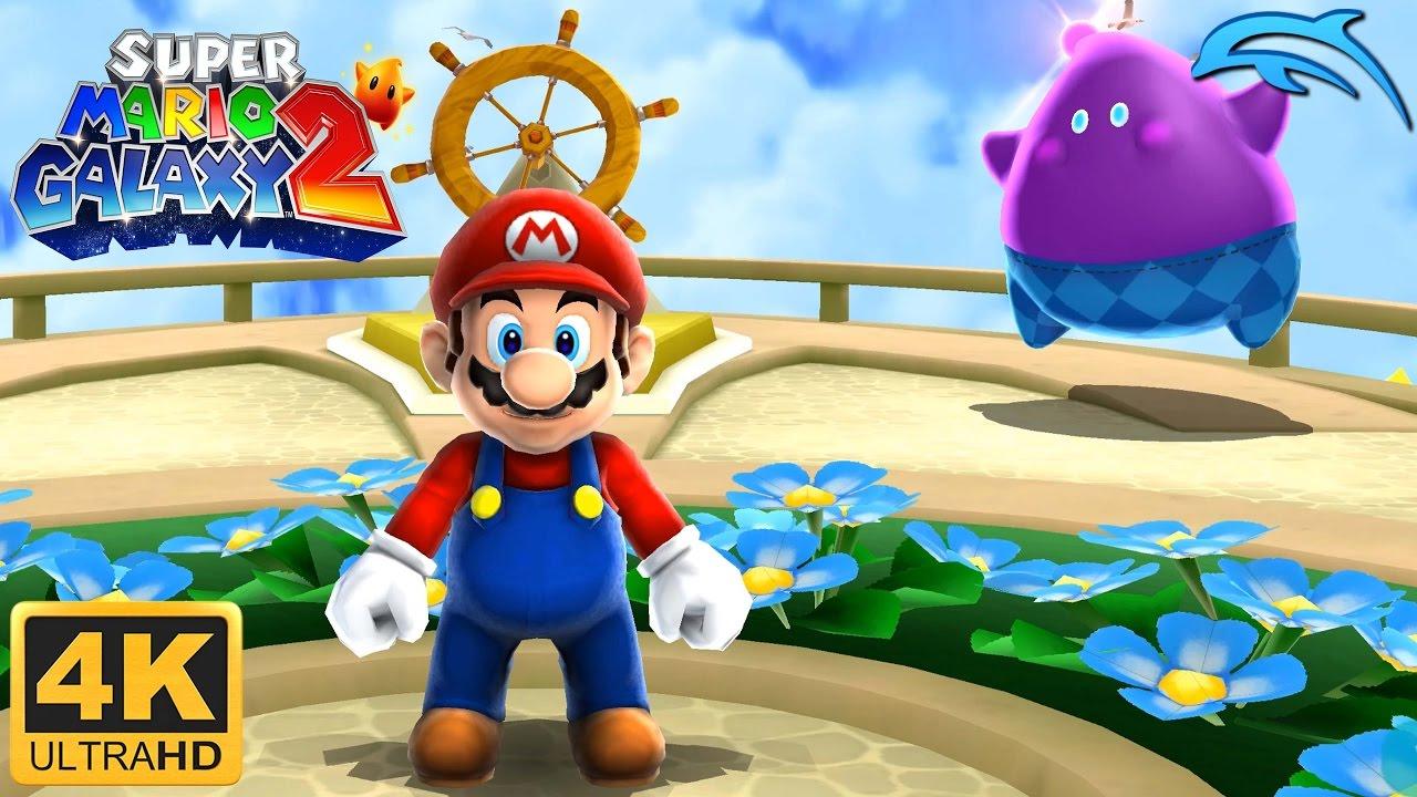 Super Mario Galaxy 2 - Gameplay Wii 4K 2160p (Dolphin 5 0)