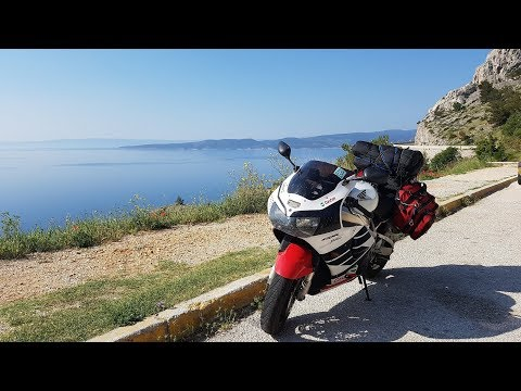 Croatia coast - Split to Dubrovnik / Europe motorcycle trip 2017 part 11