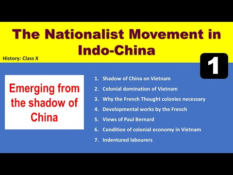 History: The nationalist movement in Indo-China (Part-1) Notes-Series
