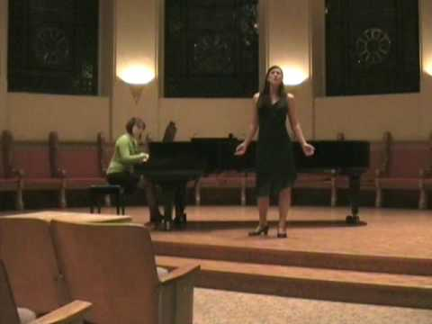 Classical Opera songs Victoria College University of Toronto 16 Nov 09