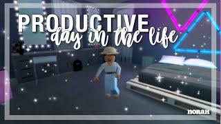 Productive Day Routine | Bloxburg | Roblox