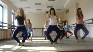 Girls Dancing - Rihanna choreography Whats My Name FULL.avi