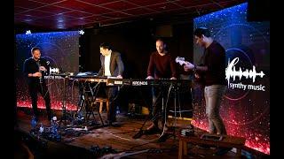 הבמה הטכנולוגית של עדי נתנאלי-מתוך המופע 'שלשה אורגנים במה אחת 2'(דור אסרף,אריאל אהרון,אביה גרינברג)