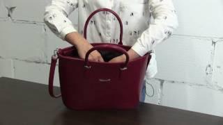 Обзор классической сумки бордового цвета, бренд S.LAVIA, производство Россия