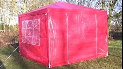 3x3 Party Tent in Red