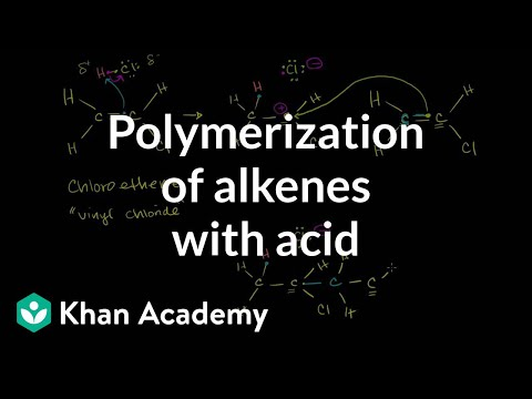 Polymerization of alkenes with acid | Alkenes and Alkynes | Organic chemistry | Khan Academy