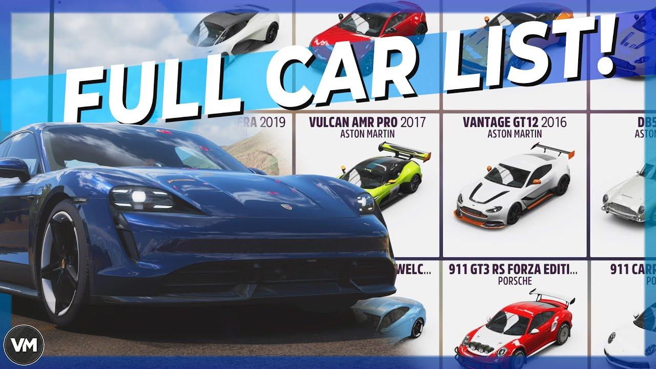 Download Forza Horizon 5 Full Car List!