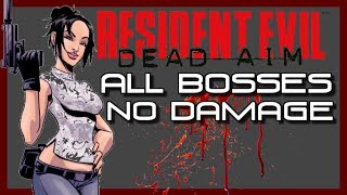 Resident Evil Dead Aim - ALL BOSSES - NO DAMAGE w/cutscenes