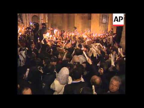 ISRAEL: JERUSALEM: GREEK ORTHODOX EASTER CEREMONY OF THE HOLY FIRE