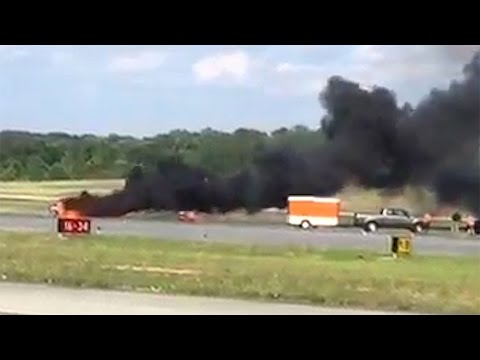 Stunt pilot killed in fiery crash at DeKalb County, Georgia airshow from YouTube · Duration:  1 minutes 34 seconds