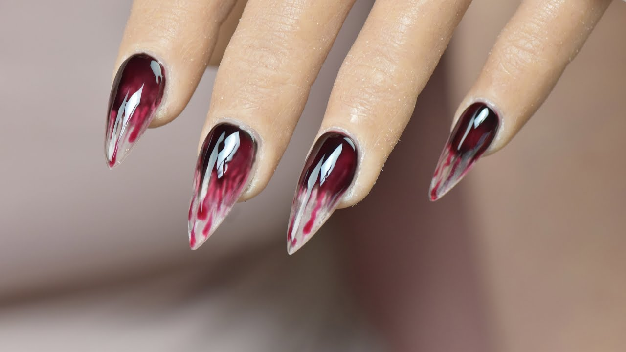 Bloody Halloween Nails | Red Iguana | April Ryan - YouTube