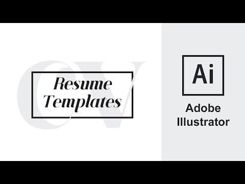 Adobe Illustrator | Resume CV | How to Edit