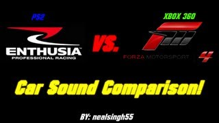 Enthusia Professional Racing vs. Forza Motorsport 4 - Car Sound Comparison
