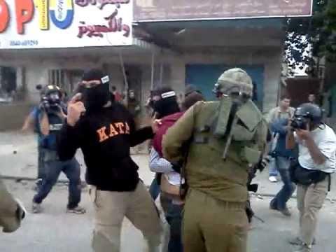 Israeli violence on Nakba commemoration, Qalandiya