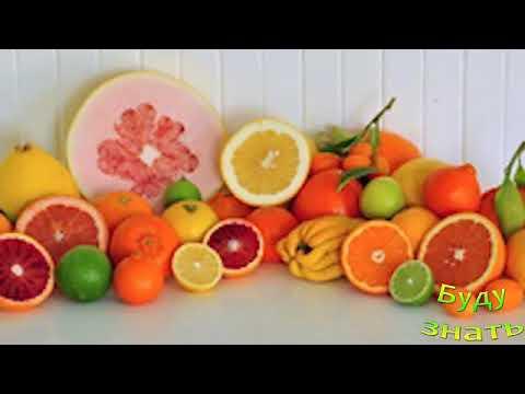 Калорийность цитрусовых - самый низкокалорийный - лимон...