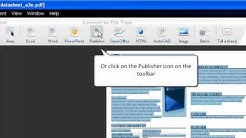 How to Convert PDF to Publisher with Able2Extract 7