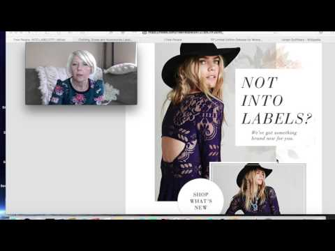 Reselling Clothes:  Label Tags From Free People, Anthropologie & Urban Outfitters