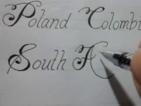 calligraphy writing styles , calligraphy with normal pen 6